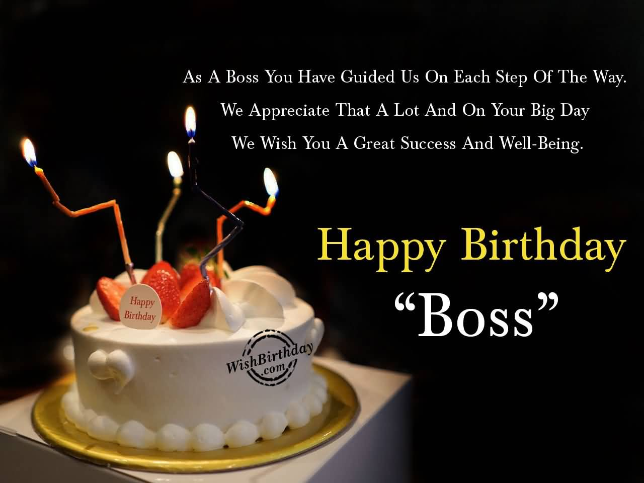 32 Wonderful Boss Birthday Wishes, Sayings, Picture