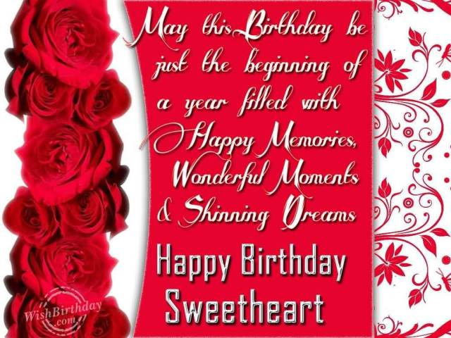 Happy Birthday Sweetheart Quotes Picture