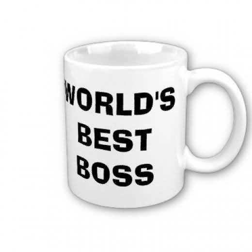 Happy Birthday To World's Best Boss Cup Image