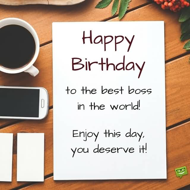 32 Wonderful Boss Birthday Wishes Sayings Picture Photo – Happy Birthday Cards for Boss