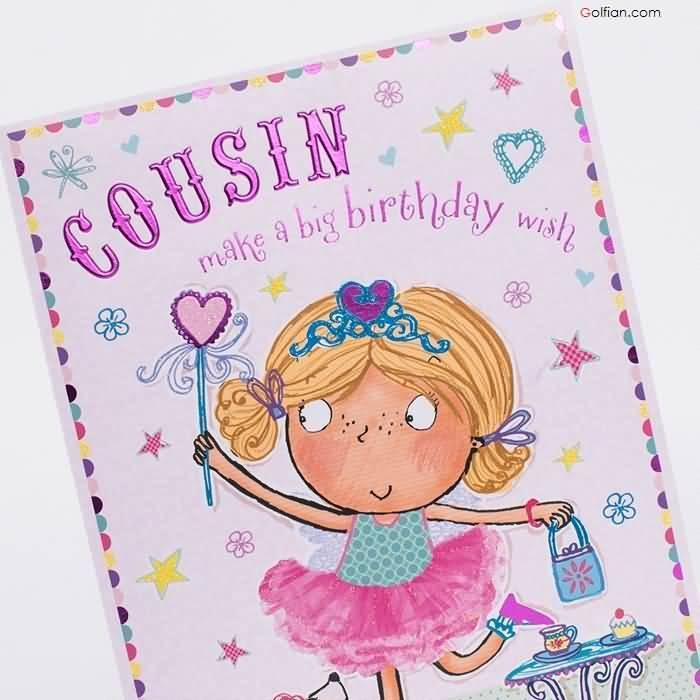 Happy Birthday Wishes Card For Sister Cousin