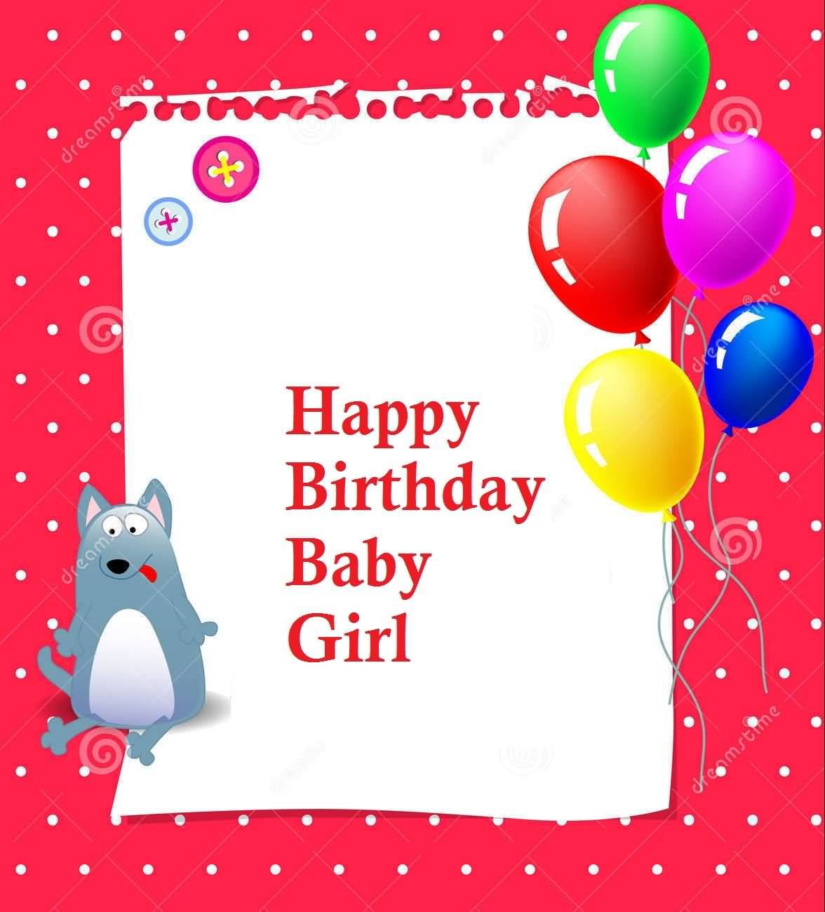 37 Sweet Baby Girl Birthday Greetings Cards Wishes Happy Birthday Wishes To My Baby