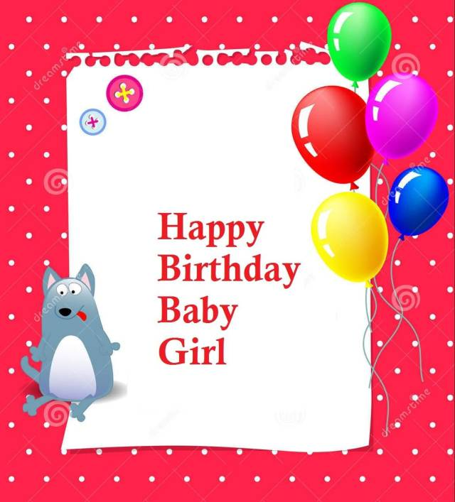 Happy Birthday Wishes For Baby Girl