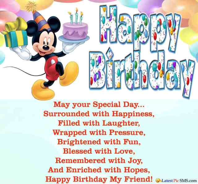 Happy Birthday Wishes Quotes To Friend Image