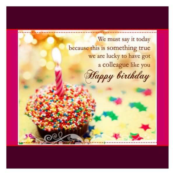 Doc Birthday Greetings Coworker Birthday Wishes for – Birthday Card for Colleague