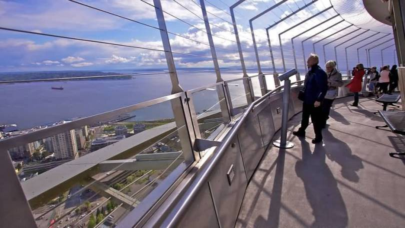 High Defination Interior View Of Space Needle For Wallpaper