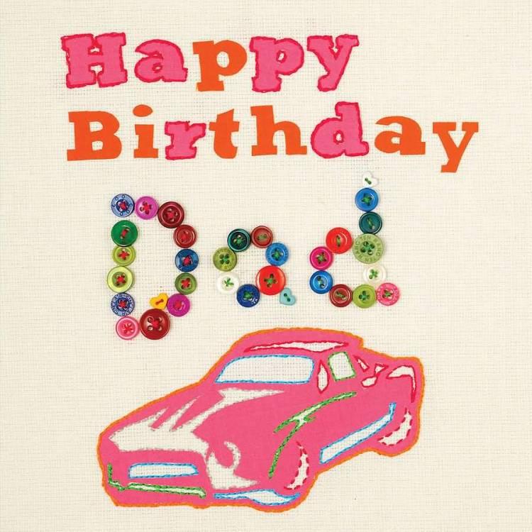 Homemade Greeting Card Happy Birthday Dad