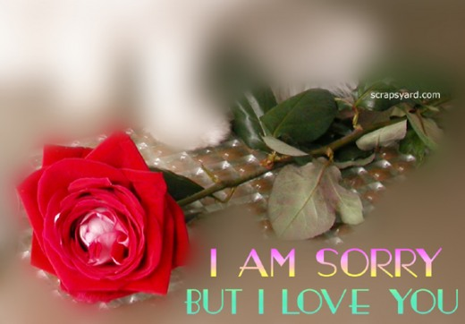 I Am Sorry But I Love You Best Greeting Image