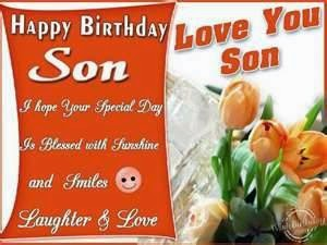 I Hope Your Special Day Is Blessed With Sunshine Love You Son Happy Birthday