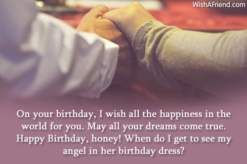 I Wish All Happiness In The World For You Angle In Her Birthday Dress Picture