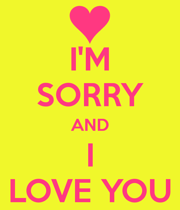 I'm Sorry And I Love You Image