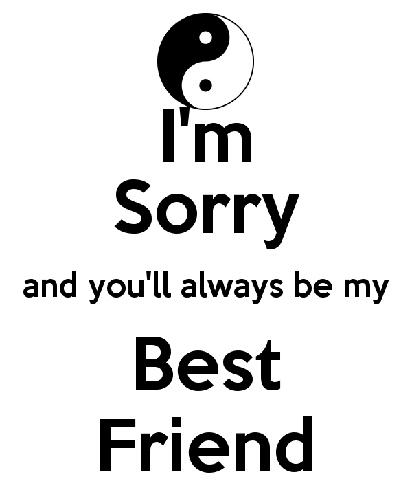 I'm Sorry My Best Friend Image