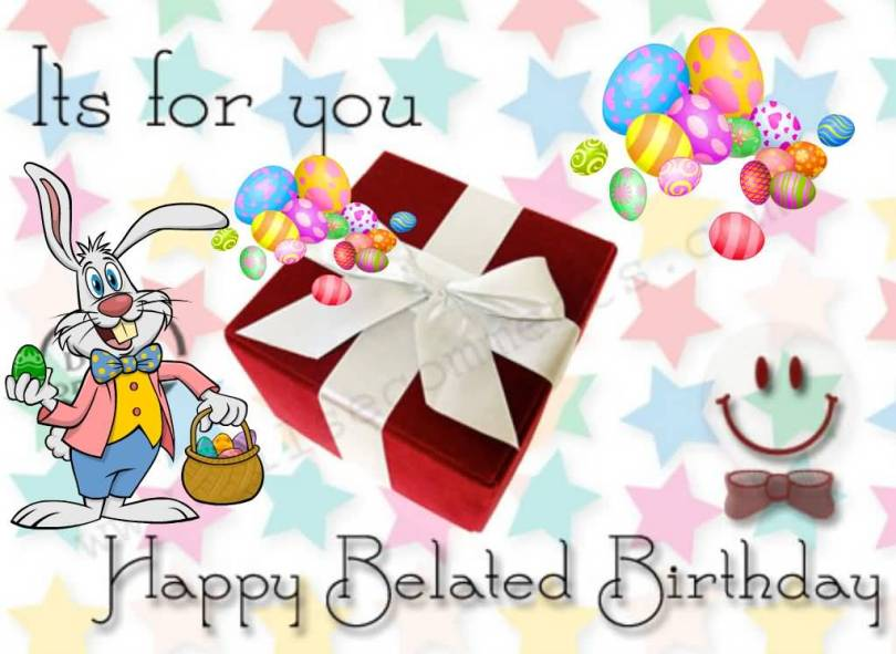 Its For You Happy Belated Birthday Cartoon Image