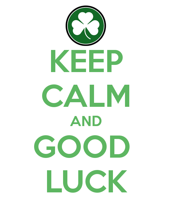 Keep Calm And Good Luck Image (2)