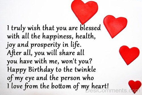 Long Happy Birthday Message Wishes To My Love