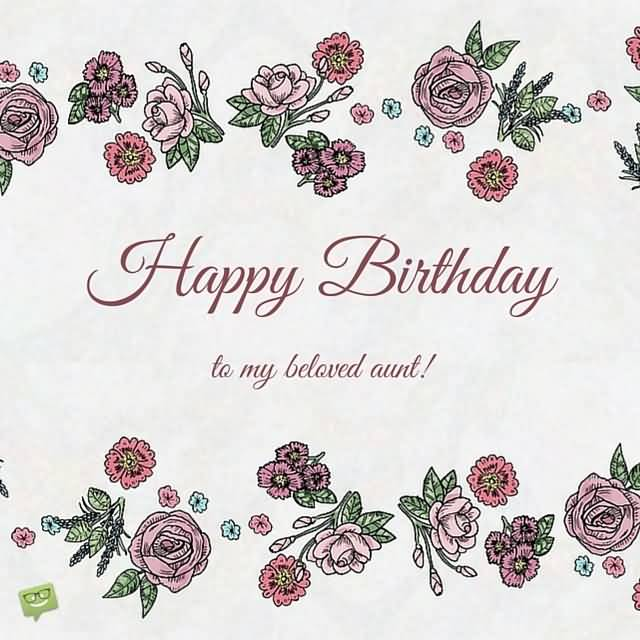 Lovely Aunt Birthday Greetings Message