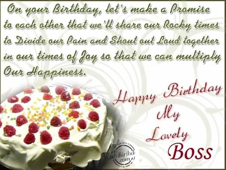 Lovely Birthday Greetings For Boss
