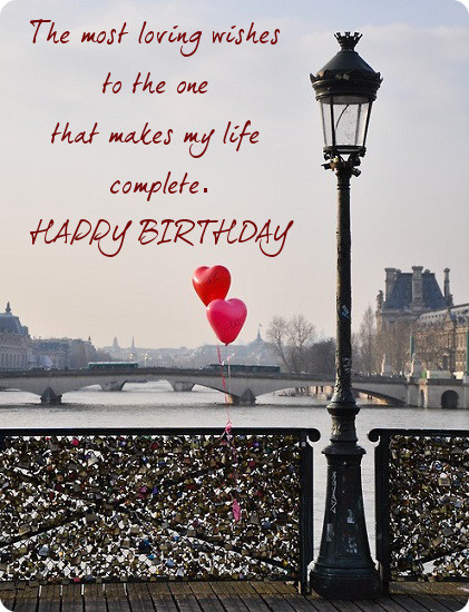 Loving Wishes To The One Happy Birthday Sweetheart