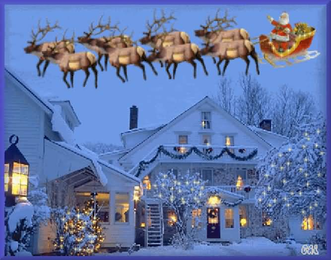 Merry Christmas Santa Wishes Animation