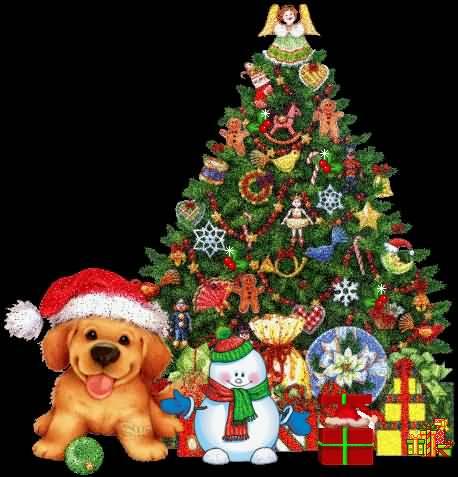 Merry Christmas Tree Beautiful Animation