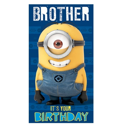Minion Greeting E Card Birthday Wishes To Brother