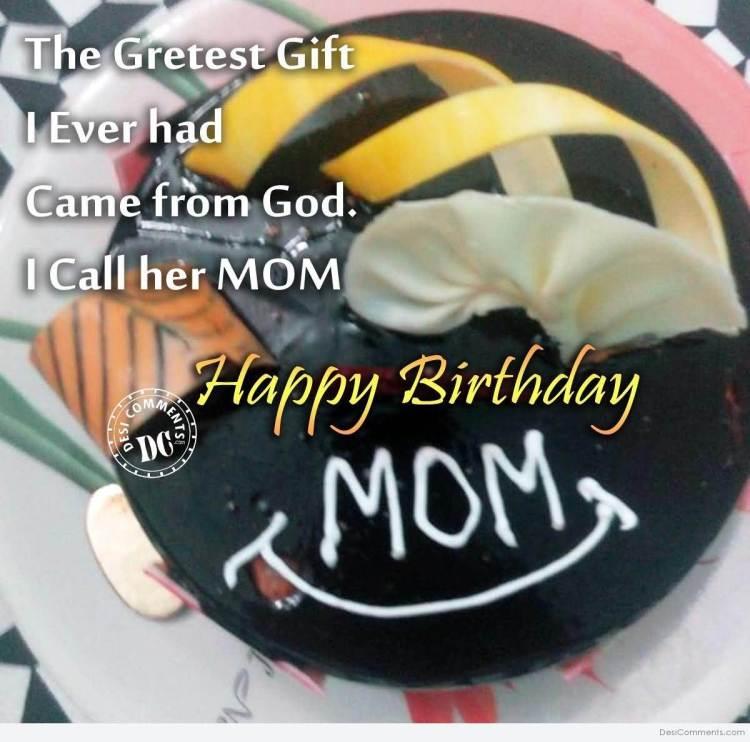 Mom Birthday Celebration Cake & Message