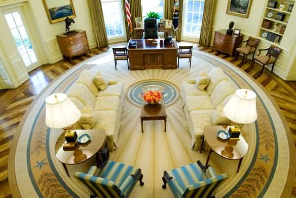 Most Beautiful Oval Office In The West Wing Of The White House