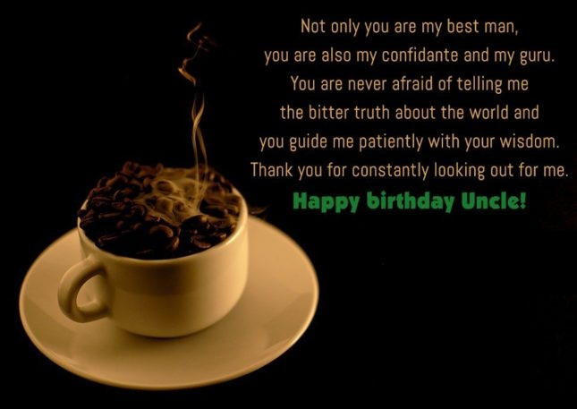 My Best Man Happy Birthday Uncle