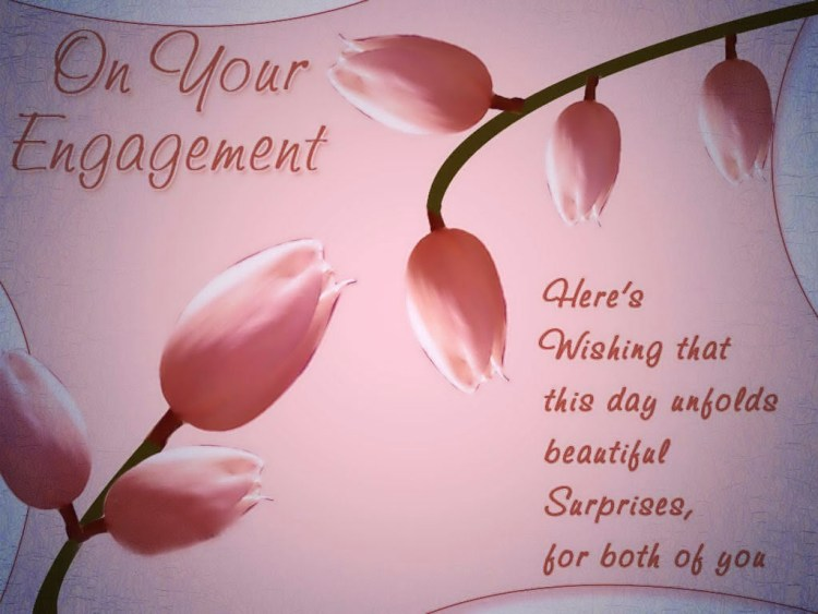 On Your Engagement Here's Wishing That This Day Greeting Card