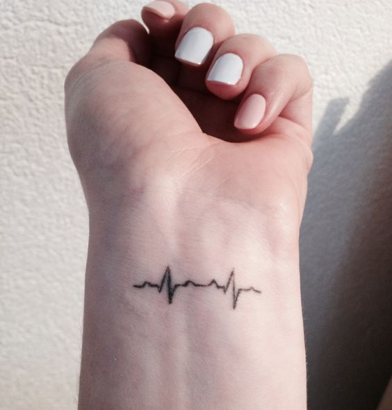 35 Satisfying Heartbeat Tattoo Designs, Ideas & Images