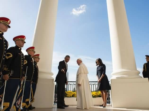 Pope Francis Meet With President Obama Meet Inside the White House
