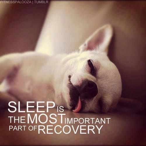 Sleep is the most important part of recovery