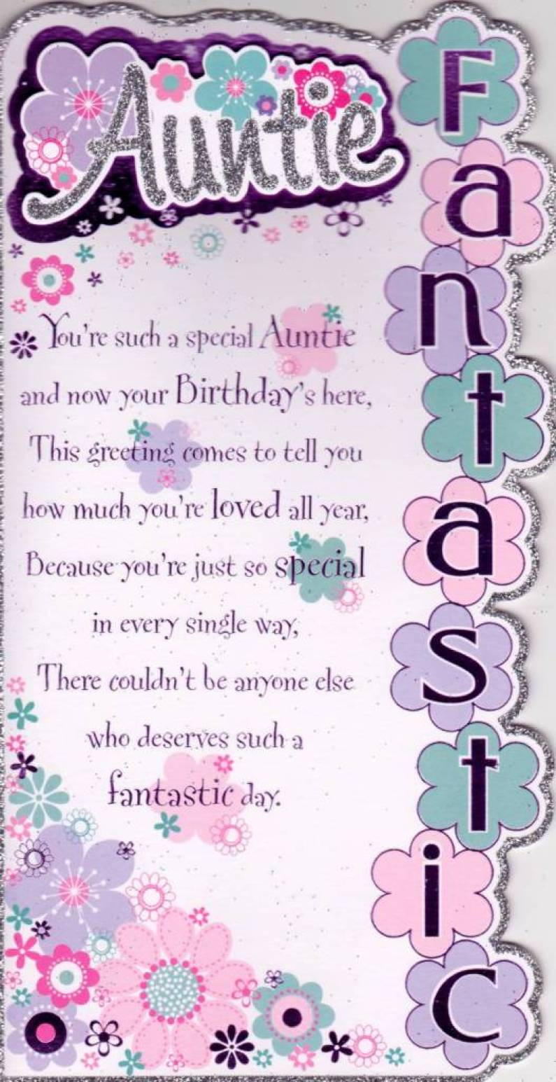 Special Aunt Birthday Poem