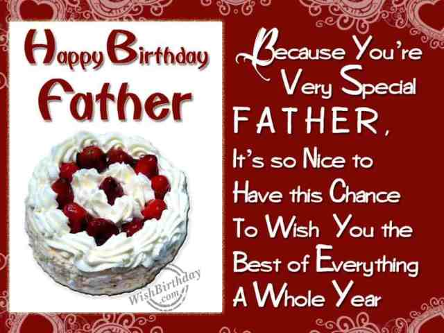 Special Happy Birthday Father Greeting Image