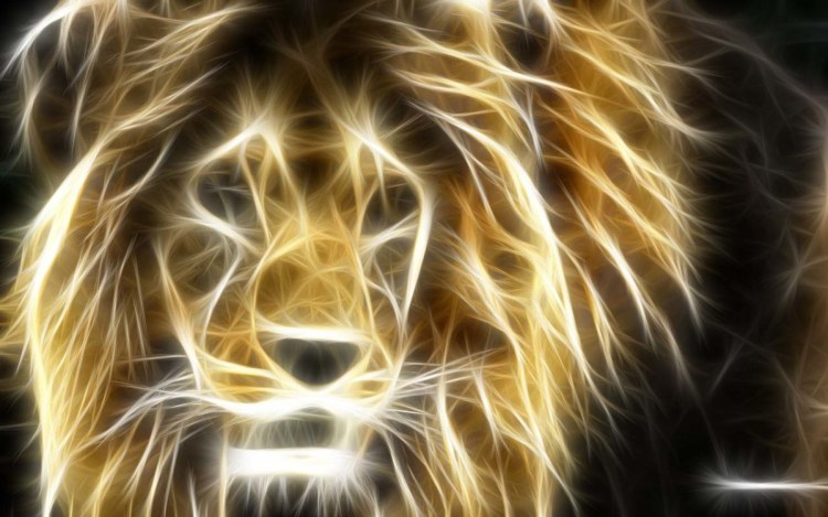 Stunning Design Of The Great Lion Full Hd Wallpaper