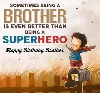 Super Hero Happy Birthday Brother