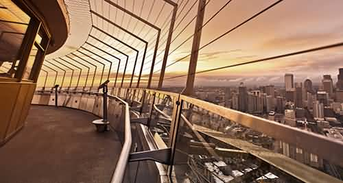 Superb Observationi Deck Inside Space Needle For Desktop Wallpaper