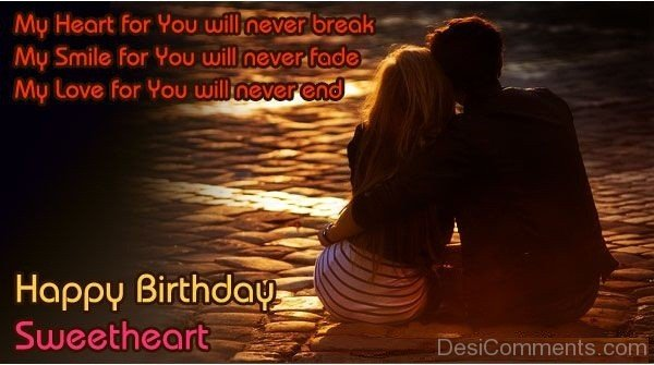 Sweetheart Birthday Wishes & Quotes Image