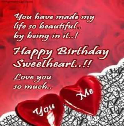Sweetheart Happy Birthday Wishes