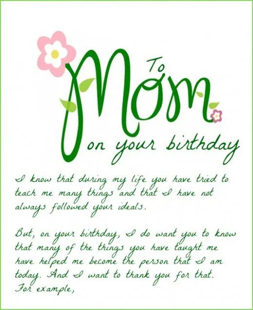 33 Wonderful Mom Birthday Quotes Messages Sayings – Happy Birthday Mom Greetings