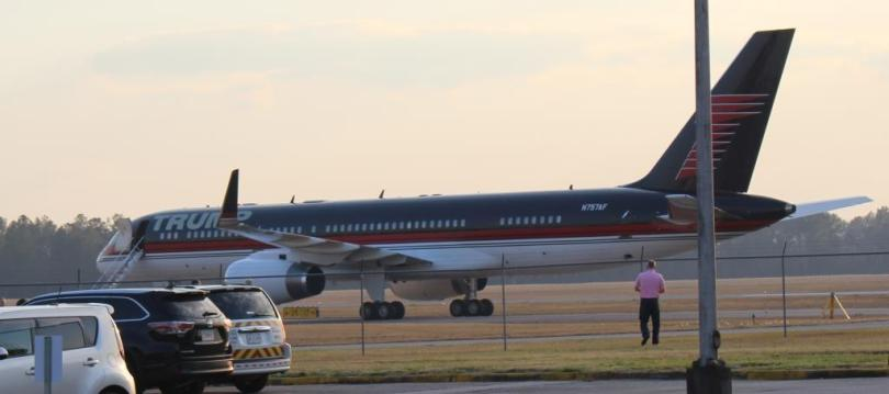 Trump Force One At Valdosta Regional Airport In Hd
