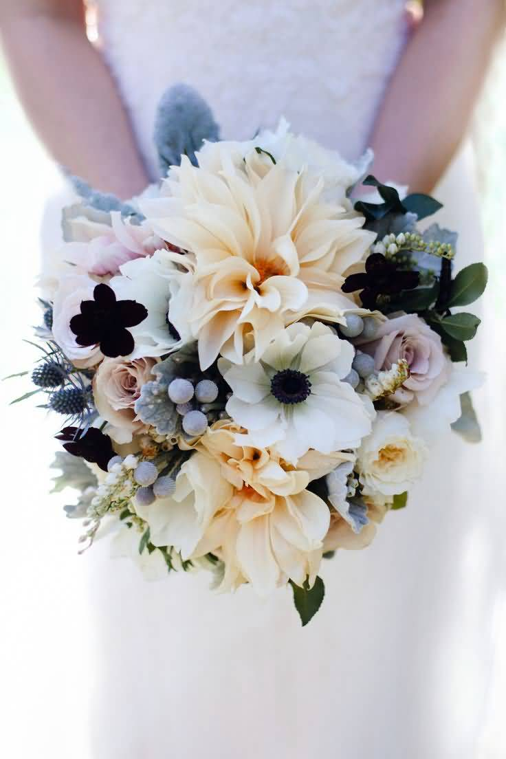 Unique Anemone Flower Bouquet For Special Wedding