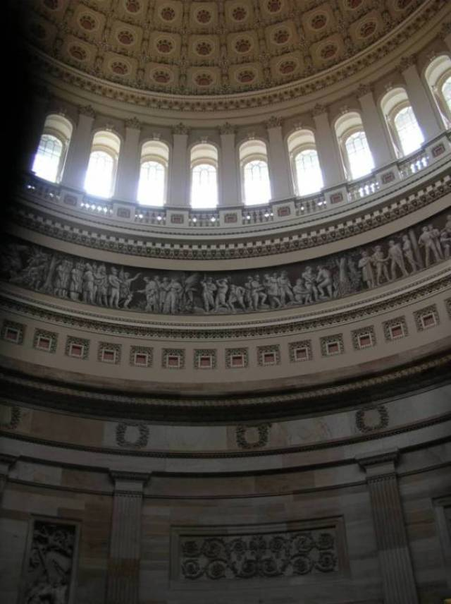 Very Attractive Architure Wall Interior View United States Capitol