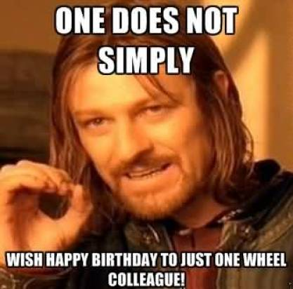 Wish Happy Birthday Colleague Funny Meme