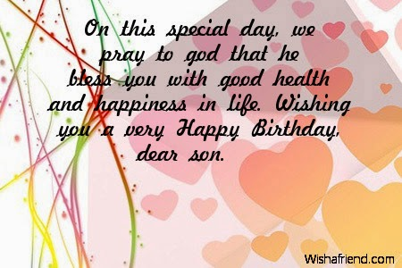 Wishing You A Very Happy Birthday Dear Son Image