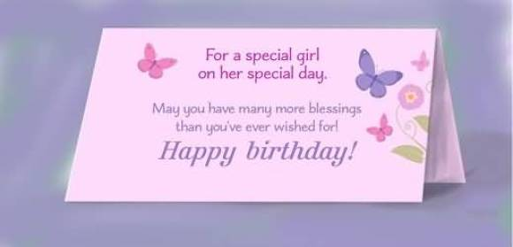 Wonderful Birthday Greetings E Card For Baby Girl