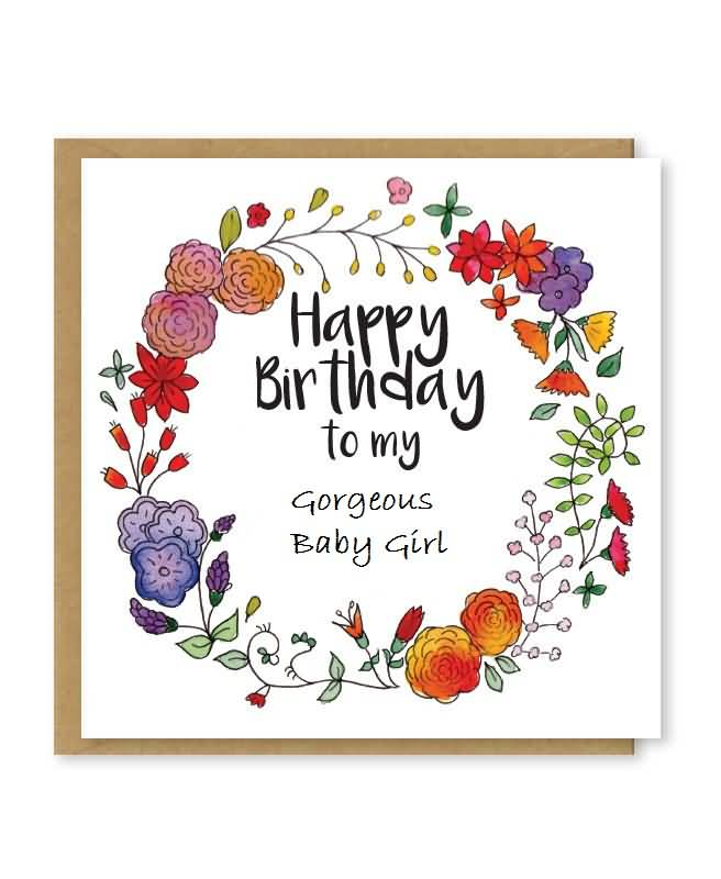 Wonderful Birthday Wishes Card For Baby Girl