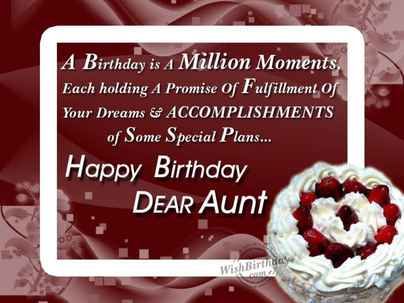 Wonderful Birthday Wishes To Special Aunt