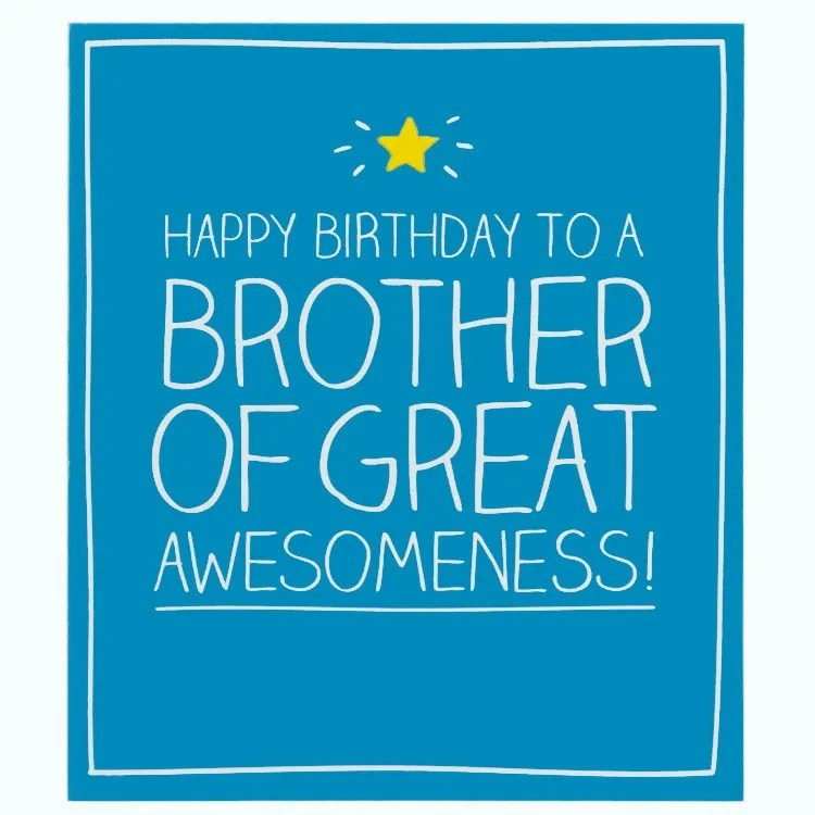 Wonderful Blue Color Birthday Greeting Card For Brother