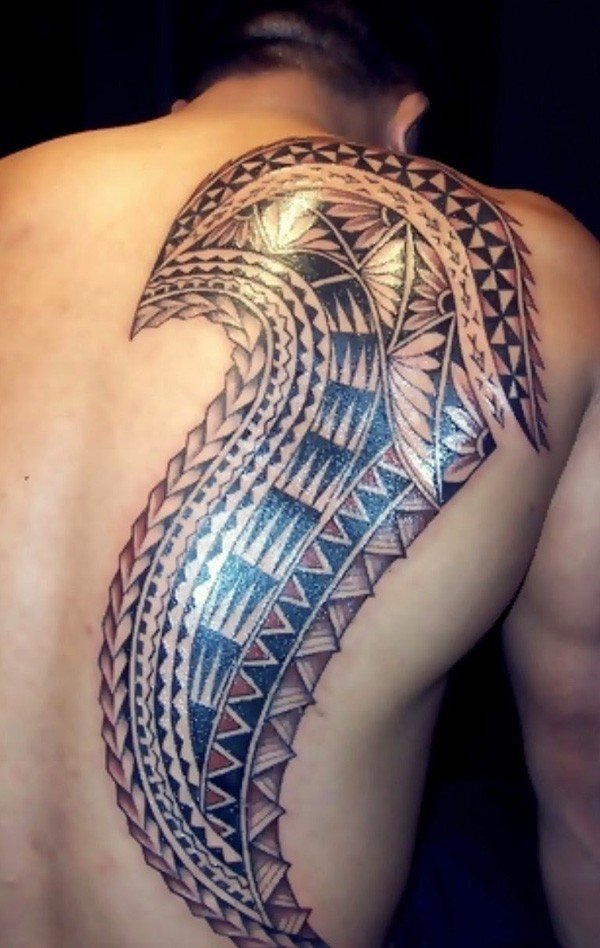 Attractive Samoa Back Tattoo On Back With Black Ink For Man Woman Samoan tattoo